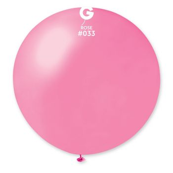 1 Ballon géant rose métallisé Ø80cm