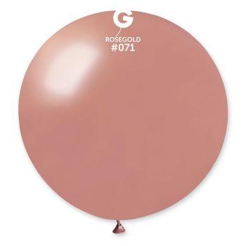 1 Ballon géant rose gold métallisé Ø80cm
