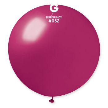 1 Ballon géant bordeaux métallisé Ø80cm