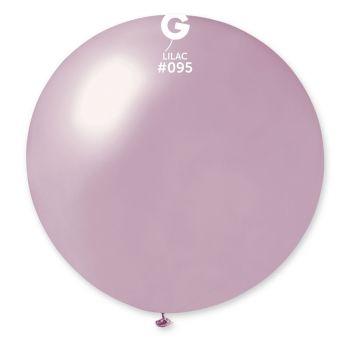 1 Ballon géant lilas métallisé Ø80cm