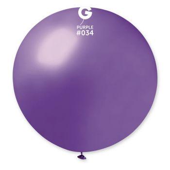 1 Ballon géant violet métallisé Ø80cm