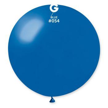 1 Ballon géant bleu roi métallisé Ø80cm