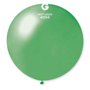 1 Ballon géant mint métallisé Ø80cm