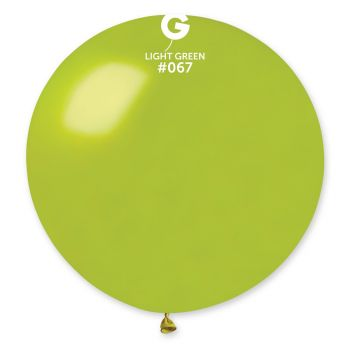 1 Ballon géant vert anis métallisé Ø80cm