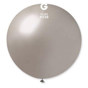 1 Ballon géant argent Ø80cm