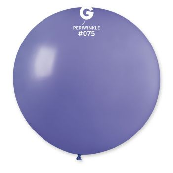 1 Ballon géant bleu pervenche Ø80cm