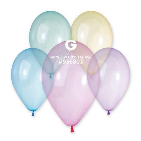 10 Ballons taille standard en latex translucide de couleur assortis pastel idéal pour vos décoration de fête et d'anniversaire et...