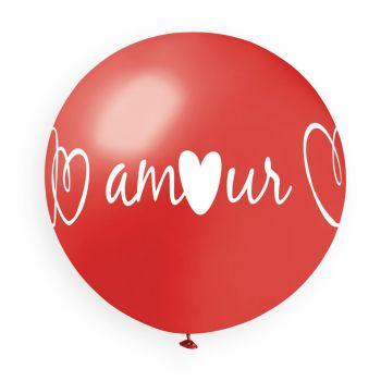 1 Ballon géant coeur Amour Ø80cm