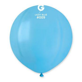 10 Ballons bleu lagon Ø48cm