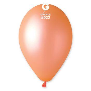 10 Ballons fluo orange Ø30cm