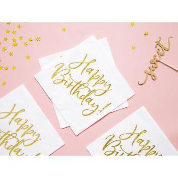20 serviettes Happy Birthday or