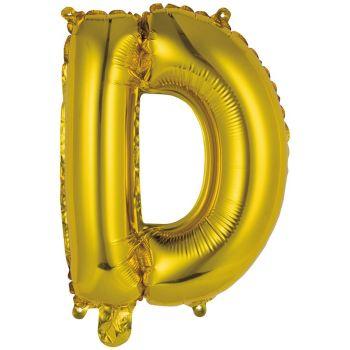 Mini Ballon alu lettre D or