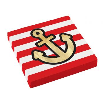 20 Serviettes Pirate rouge