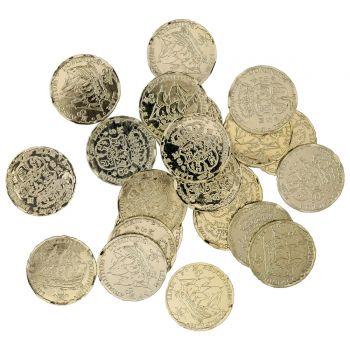 72 pièces d'or en plastique