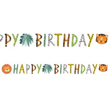 Banderole Happy Birthday Jungle Wild