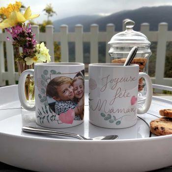 Mug personnalisé décor Joyeuses Fêtes Maman