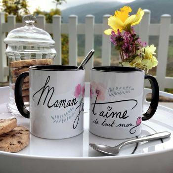 Mug bicolore Maman Je T'aime