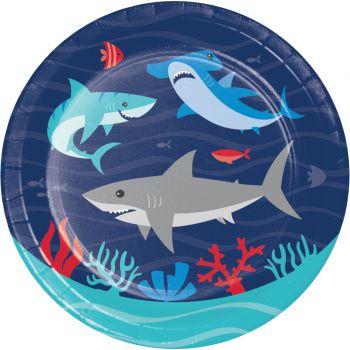 8 Petites assiettes Requin