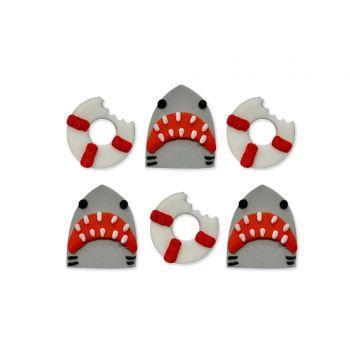 6 Décors en sucre Requin