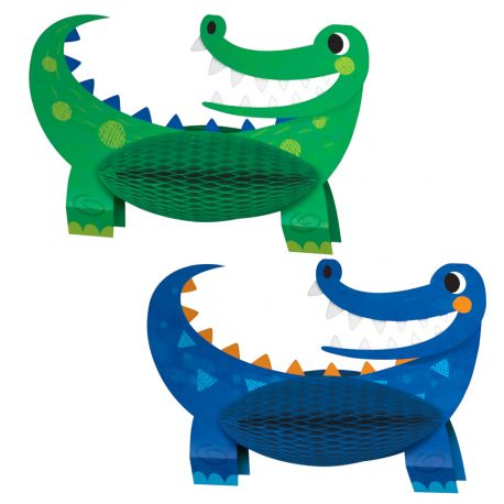 2 Centre de table Alligator party pour décorer une belle table d'anniversaireDimensions: 21 x 30cm