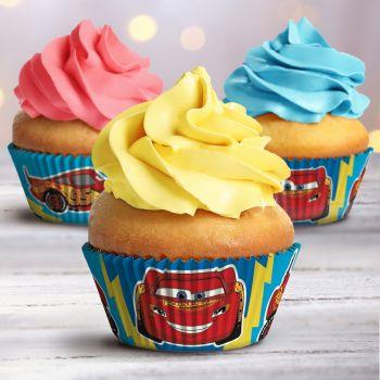 25 Caissettes Cupcakes Cars Ø5cm