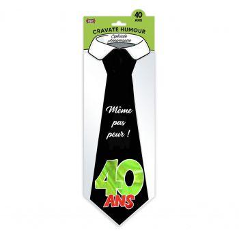 Cravate géante Joyeux anniversaire 40 ans