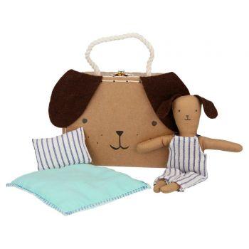 Mini valise peluche chien