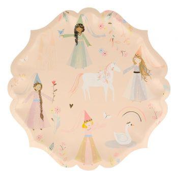 8 Assiettes carton magical Princesse