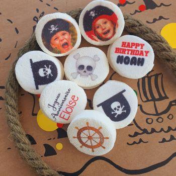 48 Guimize ronds personnalisés texte décor Pirate