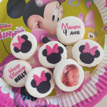 48 Guimize rond personnalisé photo décor Minnie