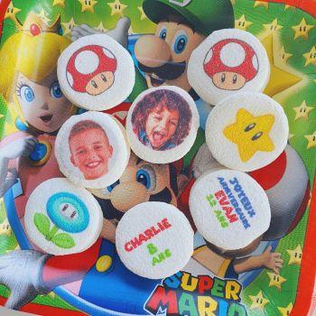 48 Guimize ronds personnalisés photo décor Mario