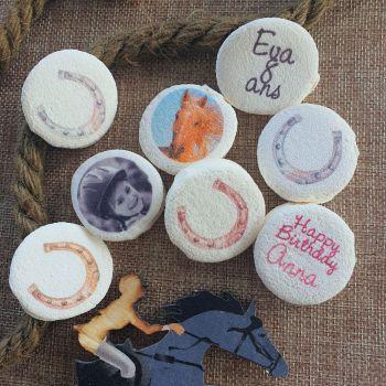 48 Guimize ronds personnalisés photo décor Fer à cheval