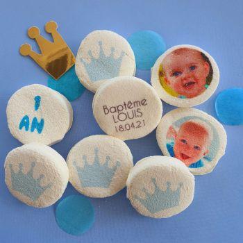 48 Guimize ronds personnalisés photo décor Couronne bleu