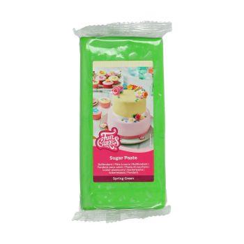 Pâte à sucre Funcakes vert 1Kg