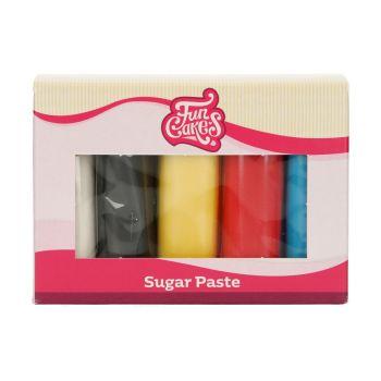 Kit 5 Pâtes à sucre primaire Funcakes
