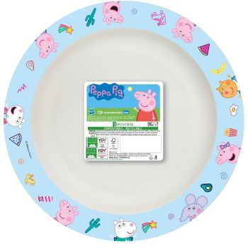 8 Assiettes Peppa Pig Home compost