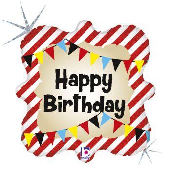 Ballon hélium Happy Birthday pirate