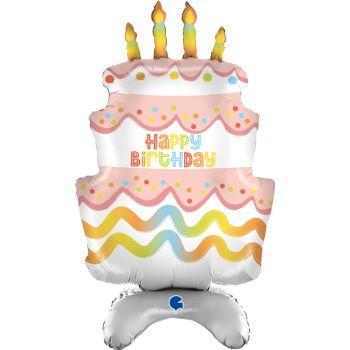 Ballon géant à poser Cake Birthday