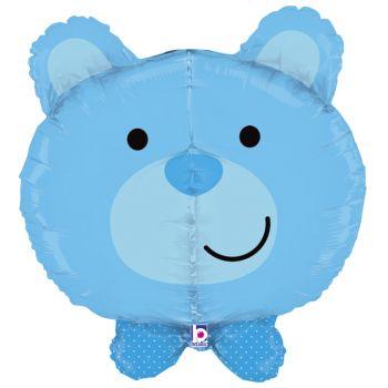 Ballon helium ourson bleu
