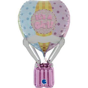 Ballon helium montgolfière It's a girl