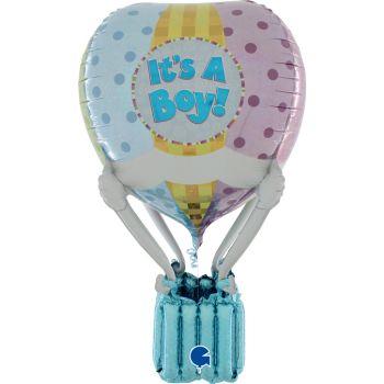 Ballon helium montgolfière It's a boy