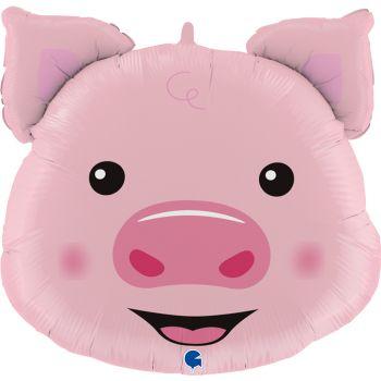 Ballon hélium cochon