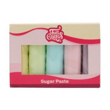 Kit 5 Pâtes à sucre pastel Funcakes