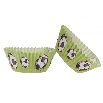 25 Caissettes cupcakes football