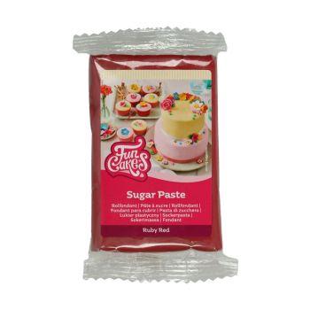 Pâte à sucre Funcakes Rouge Rubis 250gr