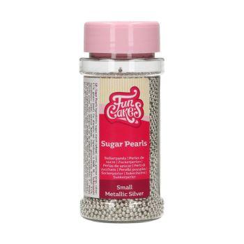 Perles en sucre argent 2mm Funcakes