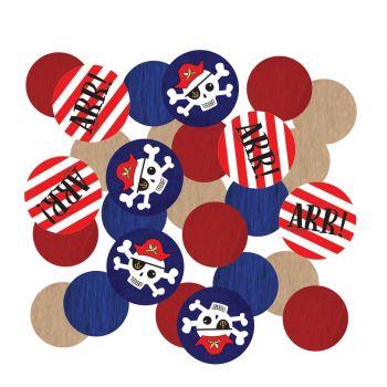 Confettis de table Pirate rouge