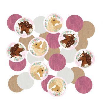 Confettis de table cheval fleuri
