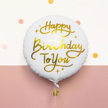Ballon hellium Happy Birthday or