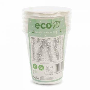 6 Eco gobelets en sucre de canne